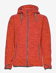 Bergans - Hareid Fleece W Jkt - fleece midlayer - red mel/soliddkgrey - 1