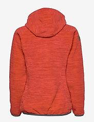 Bergans - Hareid Fleece W Jkt - fleece midlayer - red mel/soliddkgrey - 2