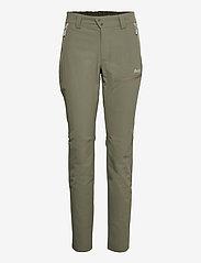 Bergans - Tyin W Pants - wandelbroeken - green mud - 0