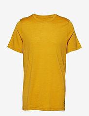 Bergans - Oslo Wool Tee - t-shirts - mustard yellow - 0