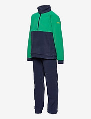 Bergans - Smdl V4 Kids Set - fleecetøj - navy/greenlake/waxedyellow - 2