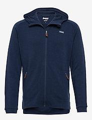 Bergans - Tuva Light Wool Hood Jkt - basic-sweatshirts - navy - 0