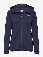 Bergans - Tuva Light Wool Hood W Jkt - fleece - navy - 0