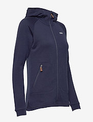 Bergans - Tuva Light Wool Hood W Jkt - fleece - navy - 4