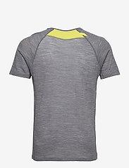 Bergans - Flyen Wool Tee - t-shirts - solid dark grey - 1