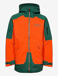 Myrkdalen V2 Insulated Jkt - ski jackets - br magma/forestfrost/beseen yellow