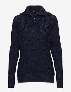 Ulriken Lady Jumper - wool midlayer - dk blue mel