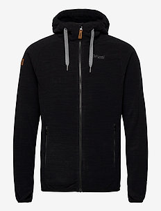 Hareid Fleece Jkt - mittlere lage aus fleece - black melange
