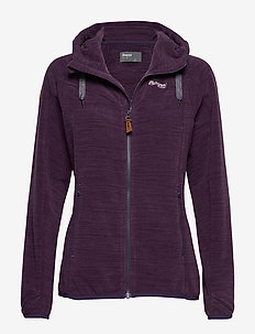 Hareid Fleece W Jkt - PURPLEVELVET MEL