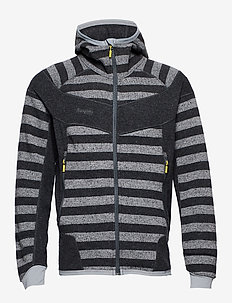 Hollvin Wool Jkt - SOLIDCHARCOAL/SOLIDDKGREY STRIPED