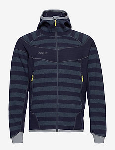 Hollvin Wool Jkt - DK NAVY/NIGHTBLUE STRIPED