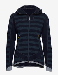 Hollvin Wool Lady Jkt - DK NAVY/NIGHTBLUE STRIPED