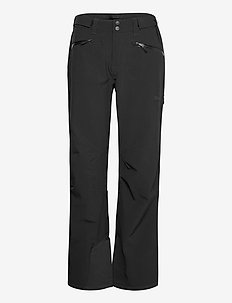 Oppdal Lady Pnt - hiihtohousut - black / solid charcoal