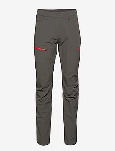 Moa Pnt - outdoorhosen - solidcharcoal/firered