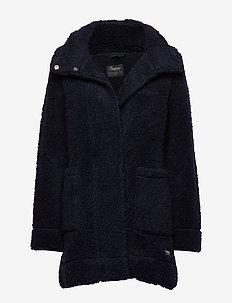 Oslo Wool LooseFit W Jkt - DK NAVY