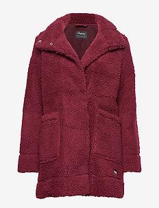 Oslo Wool LooseFit W Jkt - wool jackets - zinfandelred mel