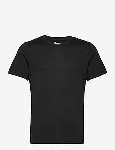 Oslo Wool Tee - t-shirts - black