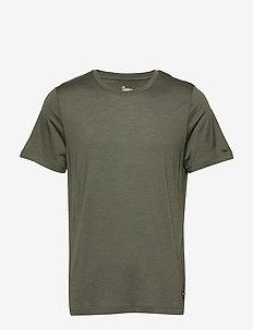 Oslo Wool Tee - t-shirts - greenmud