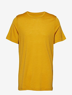 Oslo Wool Tee - t-shirts - mustard yellow