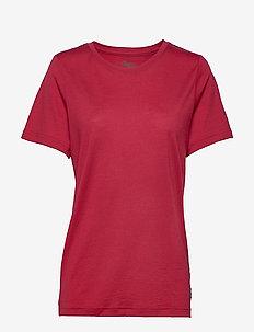 Oslo Wool Tee - t-shirts - red