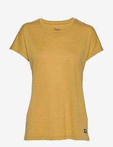 Oslo Wool W Tee - t-shirts - mustard yellow