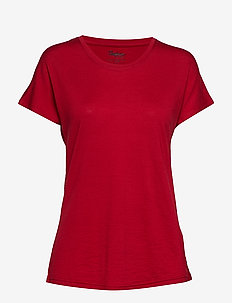 Oslo Wool W Tee - t-shirts - red