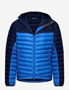 Rros Down Light Jkt w/Hood - jakker og regnjakker - strong blue / navy