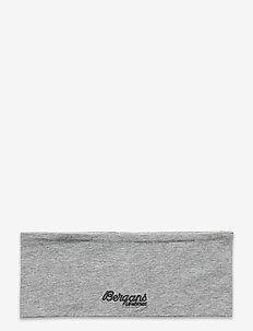 Youth Cotton Headband - accessories - grey melange