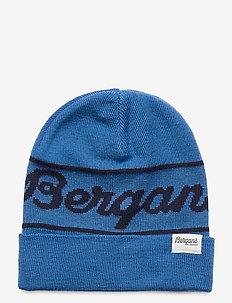 Bergans Logo Youth Beanie - muts - strong blue / navy