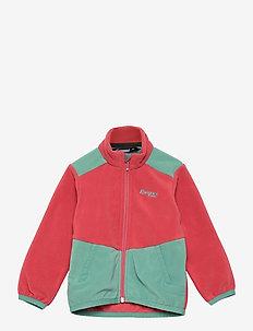 Lilletind Fleece Kids Jkt - isolerede jakker - creamy rouge/light forest frost