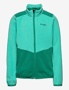 Lilletind Fleece Kids Jkt - fleecetøj - lt greenlake/greenlake