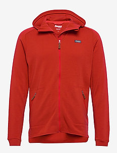 Tuva Light Wool Hood Jkt - fleece midlayer - redsand
