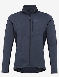 Flyen Fleece Jkt - fleece midlayer - dk navy/dk steelblue