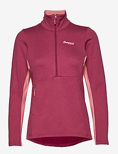 Flyen Fleece W Half Zip - mid layer-jakker - beetred/peachpink