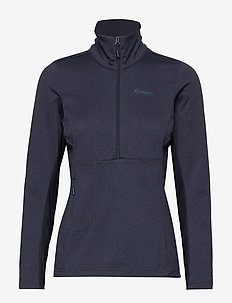 Flyen Fleece W Half Zip - mid layer jackets - dk navy/dk steelblue