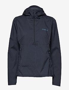 Flyen W Anorak - softshell jackets - dk navy/dk steelblue