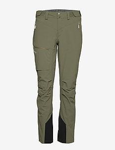 Breheimen Softshell W Pnt - softshell pants - green mud / aluminium