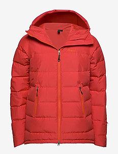 Stranda Down Hybrid Jkt - jakker og regnjakker - lava/br magma