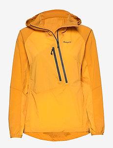 Cecilie Lt Wind Anorak - outdoor & rain jackets - lt goldenyellow/goldenyellow/soliddkgrey