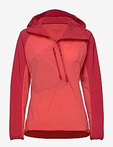 Cecilie Lt Wind Anorak - outdoor & rain jackets - lt dahliared/dahliared