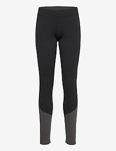 Cecilie Wool Tights - underdele - black / solid charcoal