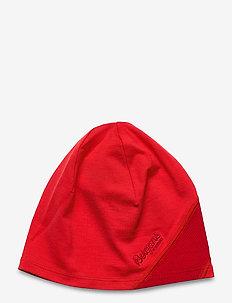 Cecilie Lt Wool Beanie - kapelusze - lt dahliared/dahliared