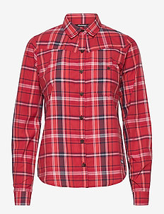 Kikut W Shirt - langærmede skjorter - red check