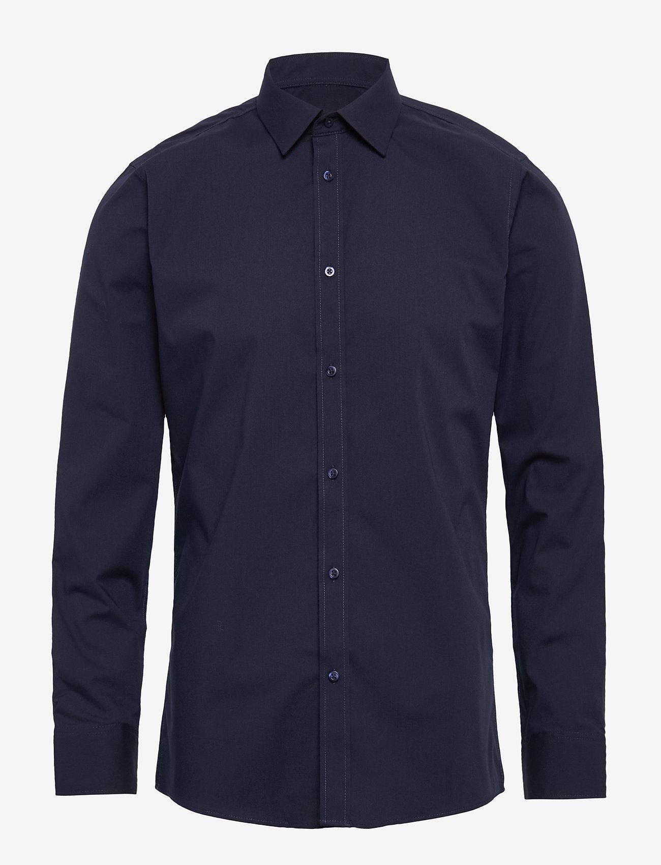 Bertoni - Gustav - basic skjorter - 740 dress blue - 0