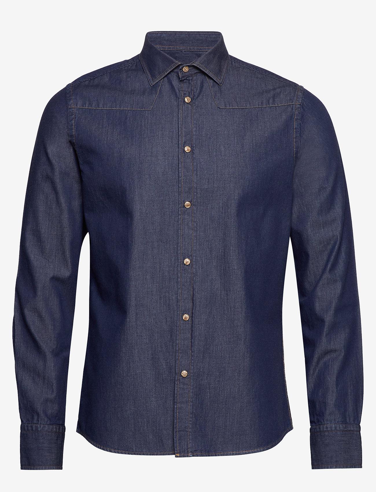 Bertoni - Robin - chemises basiques - 715 dusty blue - 0