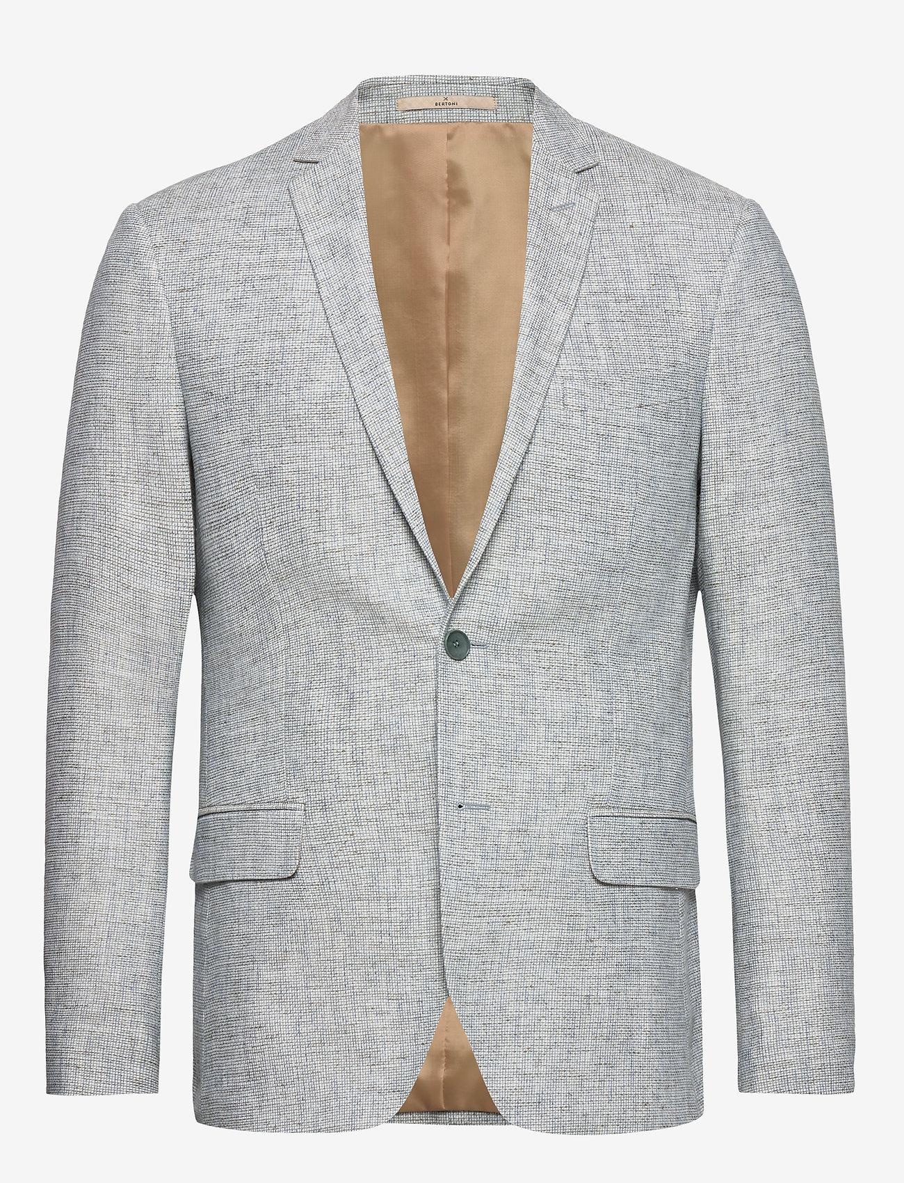 Bertoni - Andersen - single breasted blazers - 633 aqua gray - 0