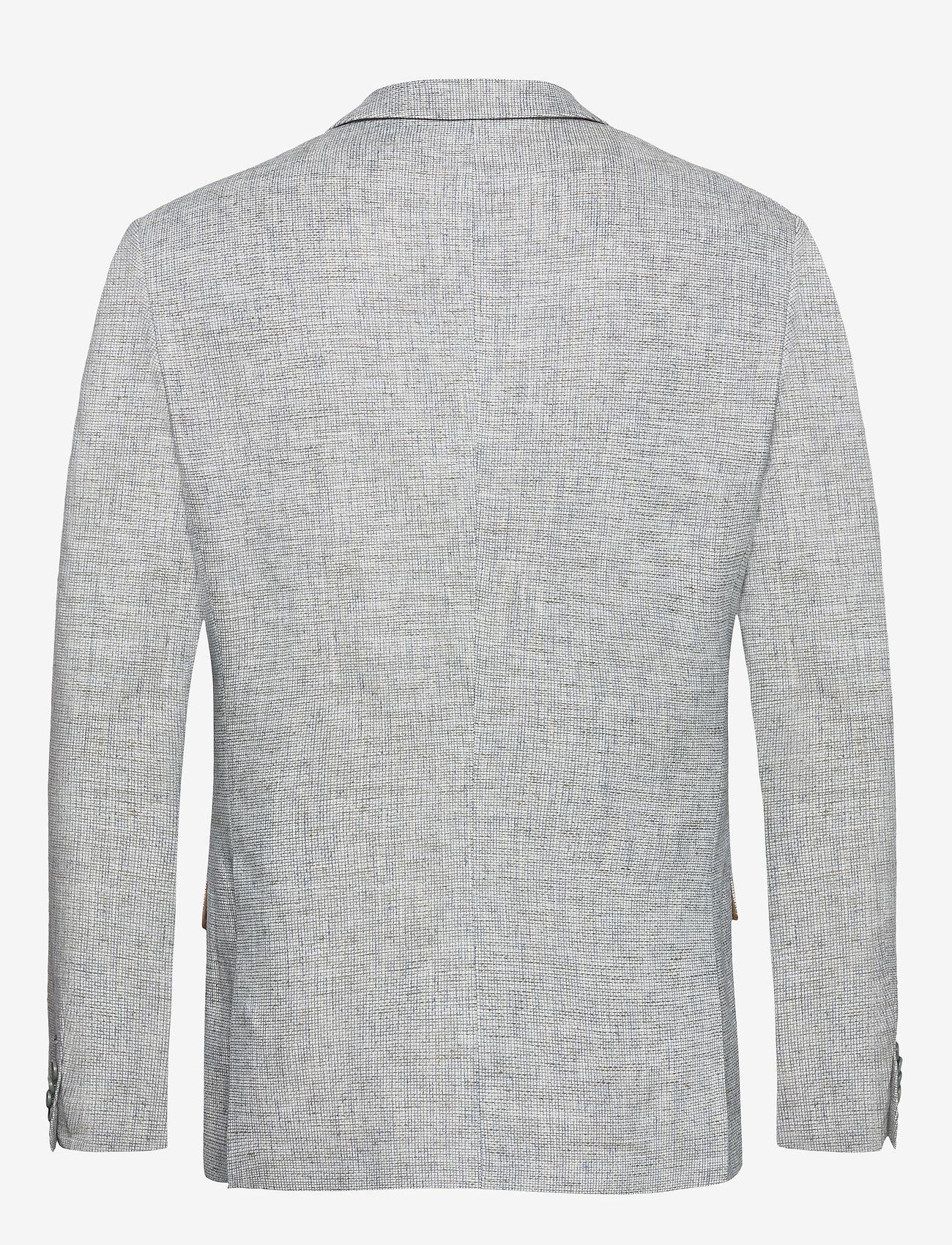 Bertoni - Andersen - single breasted blazers - 633 aqua gray - 1