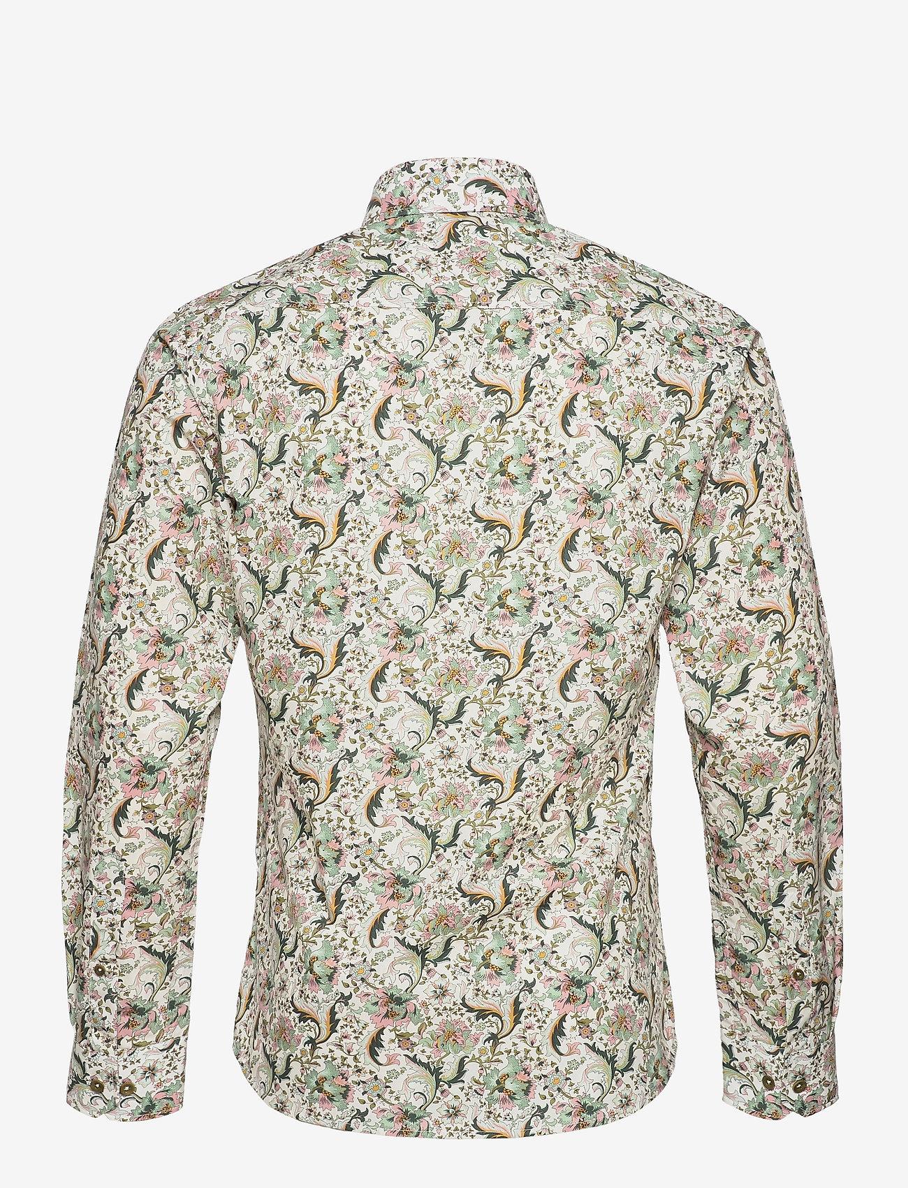 Bertoni - Dennis - casual skjortor - 615 gray green - 1