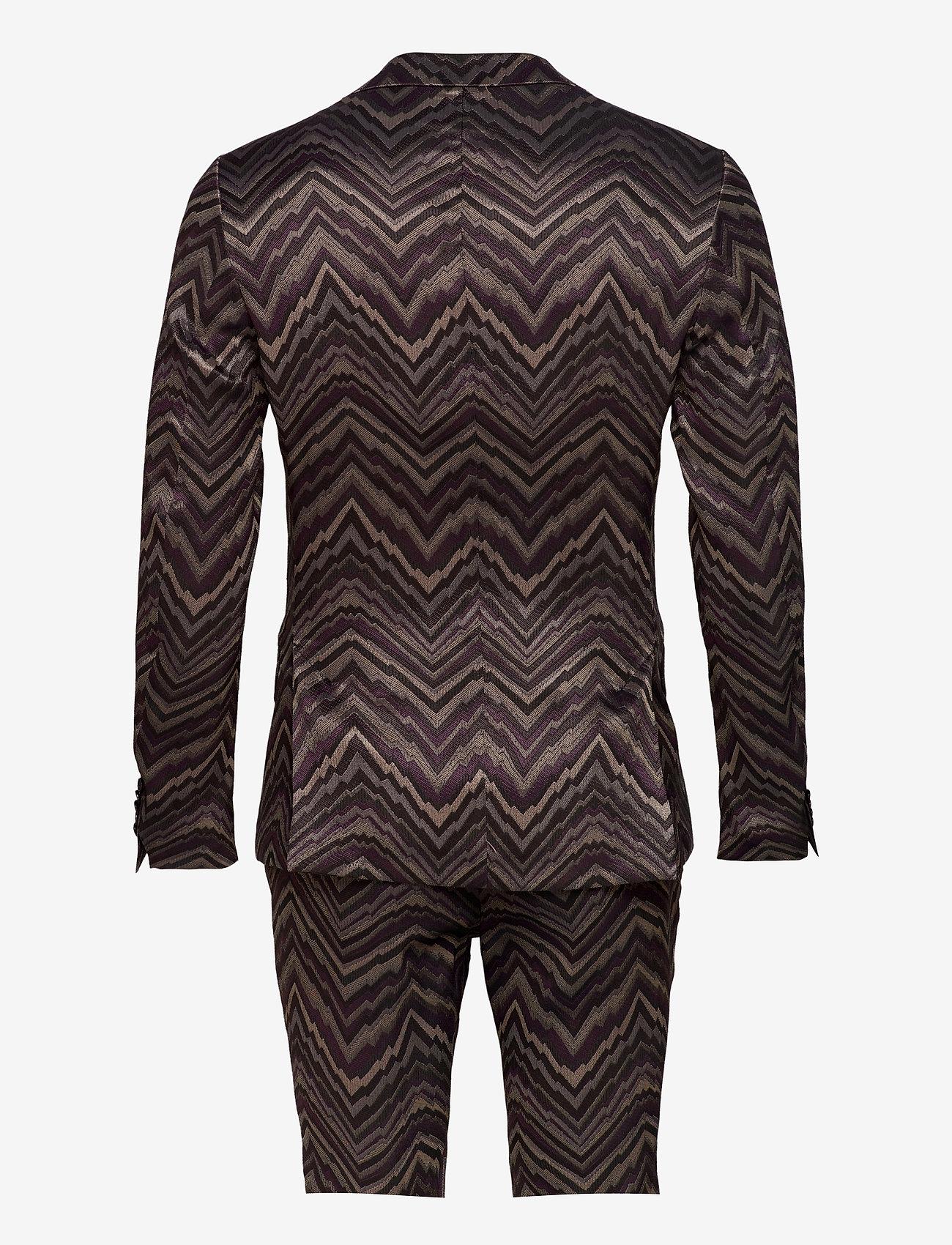 Bertoni - Suit Karlsen -Bloch - enkelknäppta kostymer - 295 black berry - 1