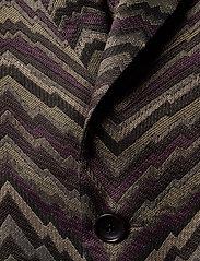 Bertoni - Suit Karlsen -Bloch - enkelknäppta kostymer - 295 black berry - 4